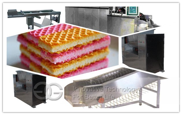 Wafer Biscuit Production Line 63 Moulds
