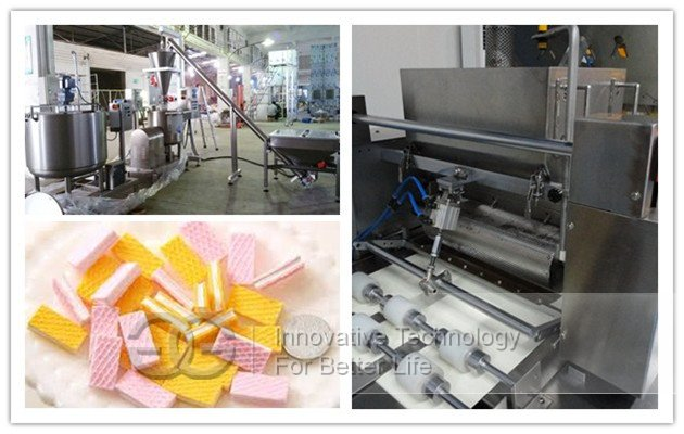 Automatic Wafer Biscuit Processing Line With 39 Moulds