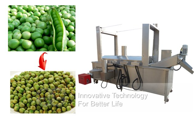 Green Beans Peas Peanuts Fryer Machine|Groundnuts Frying Machine