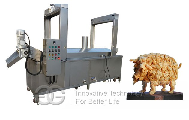 Continuous Pork Rinds Frying Equipment|Pork Skin Continuous Fryer Machine