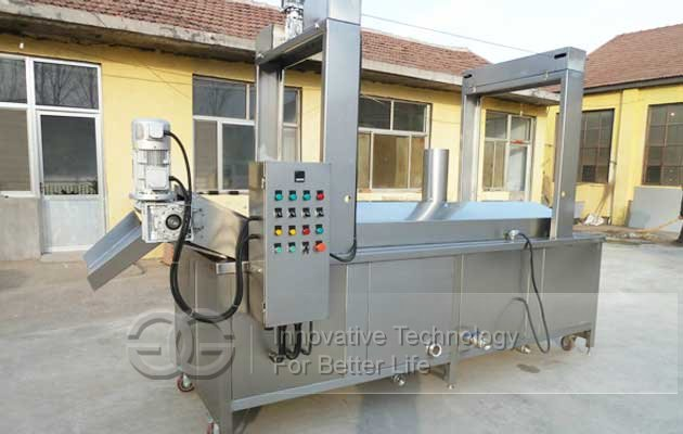 Continuous Chin chin Fryer Machine|Snack Food Frying Machine