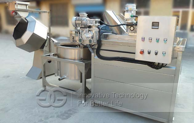 Fried Bean Snacks Fryer and Flavouring Machine