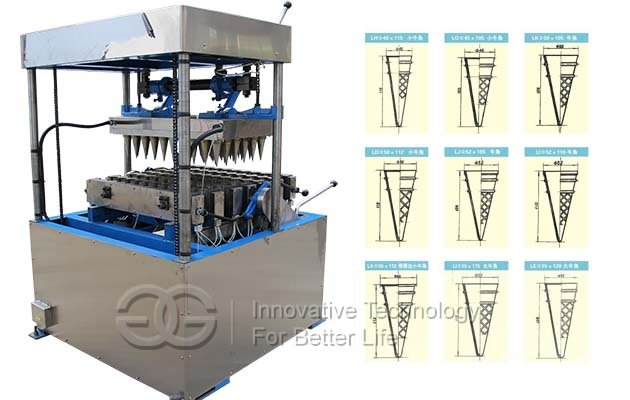 Ice Cream Cones Wafer Making Machine GG60