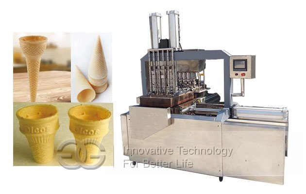 Stainless Steel Full Automatic Ice Cream Wafer Cone Machine GG60F