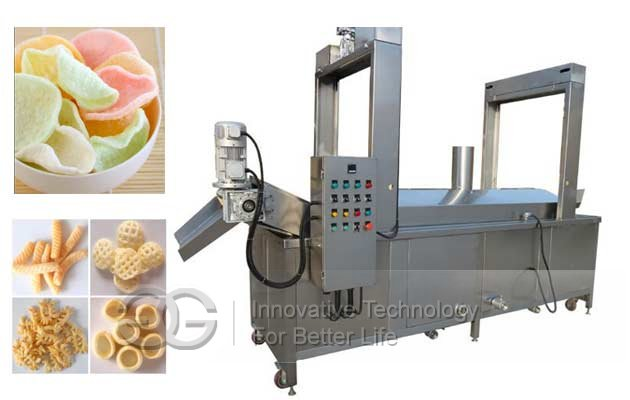 Prawn Crackers Fryer Machine|Pellet Chips Frying Machine|3d Pellet Snacks Fry Machine