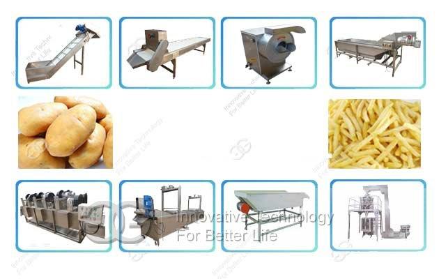 Pre-fried French fries Production Line|Half Fried Frozen Potato fries machine