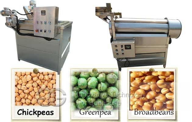 Automatic Chickpea Frying Line|Chickpeas Frying and Flavouring Machine