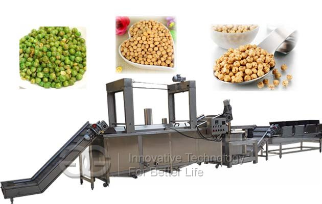 Green Beans Frying Line|Fried Peas Processing Equipment