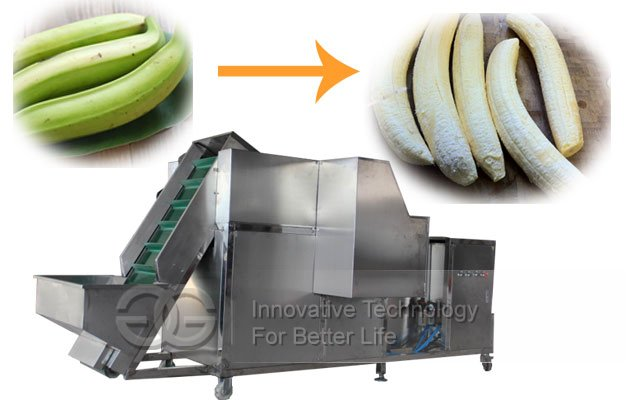Automatic Green Banana Peeling machine With Conveyor|Plantain Peeler Equipment