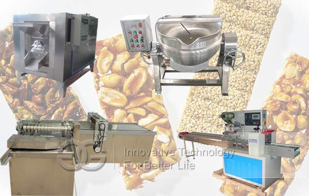 Croquant Bar Production Line|Crispy Brittle Bar Making Machine