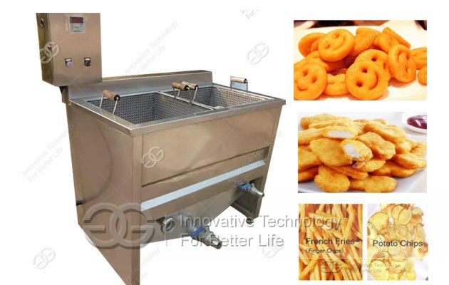 Commercial Snack Chips Deep Fryer|Potato Chips Batch Frying Machine