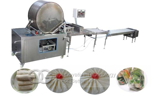 Automatic Spring Roll Sheet Lumpia Wrapper Making Machine|Injera Chappathi Manufacturing Machine