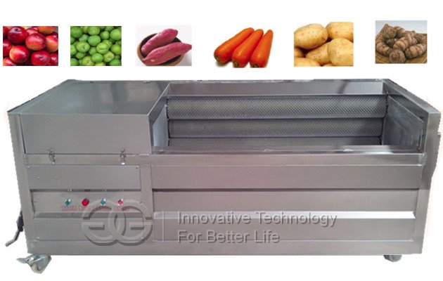 Brush Type Vegetable Fruit Washing Peeling Machine