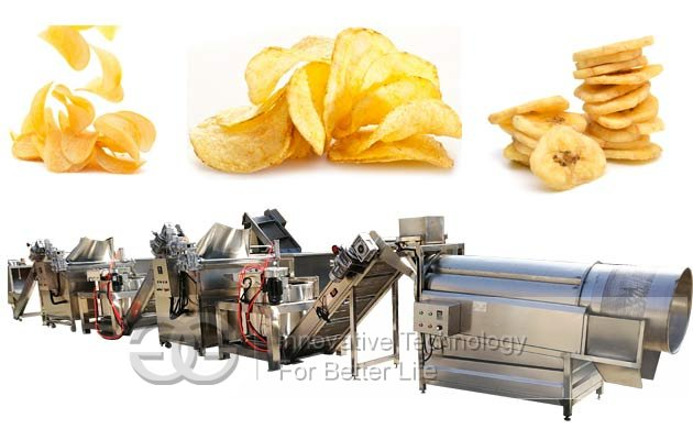 Fully Automatic Potato chips Manufacturing Equipment|Plantain chips Line Plant