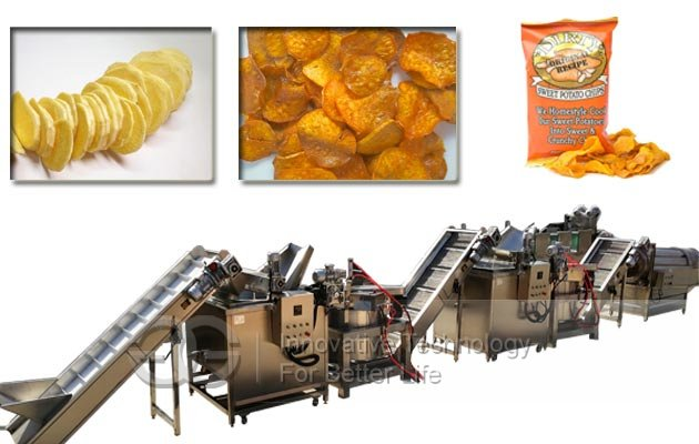Sweet Potato Chips Production Line|Potato Cassava Chips Making Plant