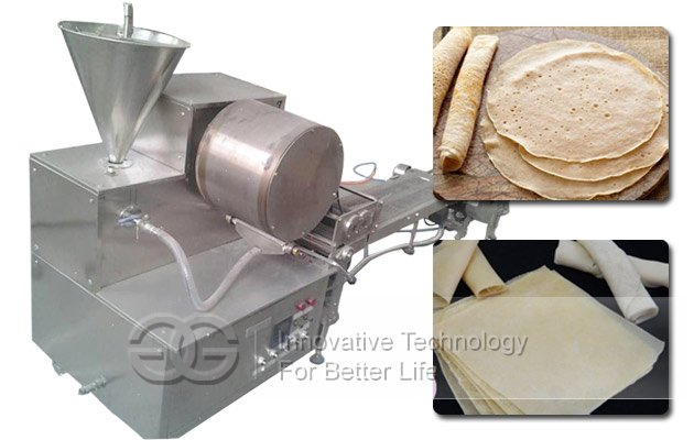 Automatic Injera Chapati Spring Roll Machine|Samosa Pastry Sheet Lumpia Wrapper Machine