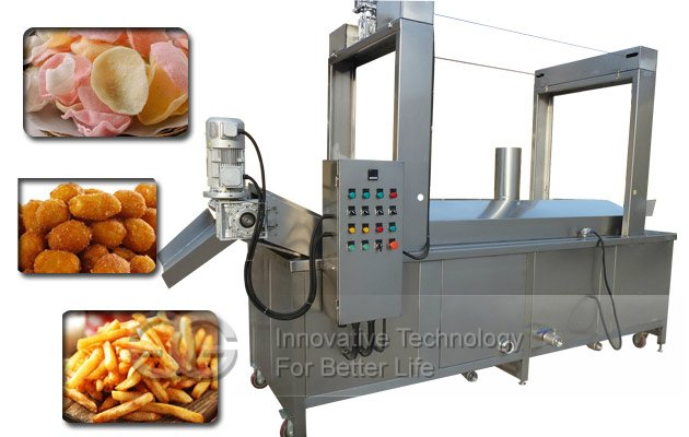 Continuous Prawn Crackers Fryer machine |Pellet chips Frying machine |3d Pellet Snacks Fry machine