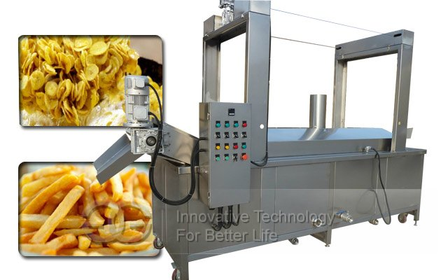Automatic Plantain chips Continuous Fryer|Banana chips Batch Frying machine