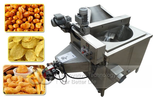 Stainless Steel Peanuts Snack Fryer|Namkeen Chips Round Fryer Machine