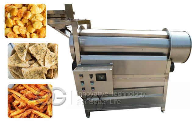 Snack Chips Flavoring Machine|Drum Type Namkeen Seasoning Machine