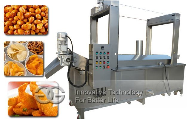 Continuous Fryer Machine|Industrial French Fries Fryer For Sale