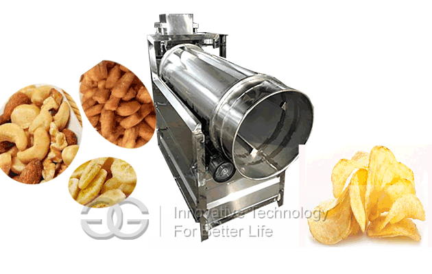 drum chips flavouring machine