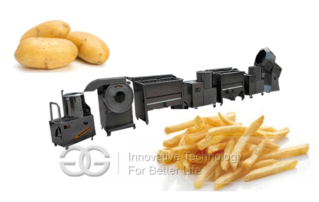 fries frying line