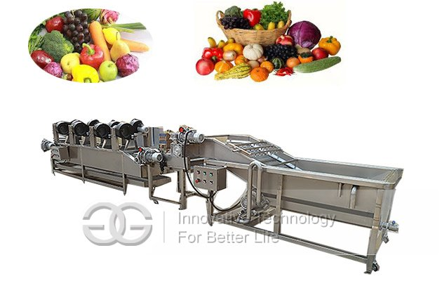 fruit and vegetables washer dryer machine line