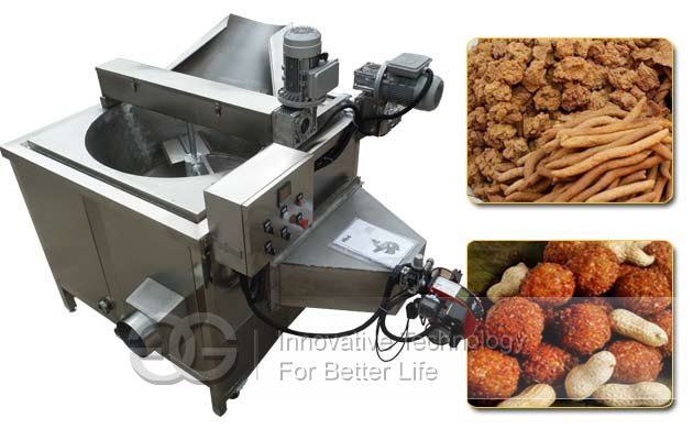 Round Fryer Kuli Kuli Machine|Nigerian Chin Chin Snacks Frying Machine