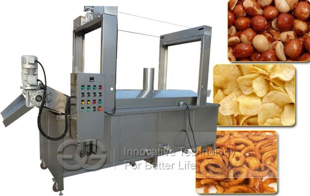 Curly Fries Continuous Fryer|Chicken Karaage Automatic Frying Machine