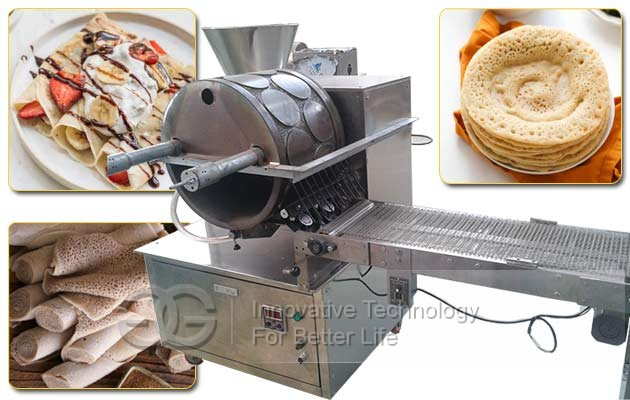 Commercial Injera Baking Machine|Crepe Spring Roll Sheet Lumpia Wrapper Machine