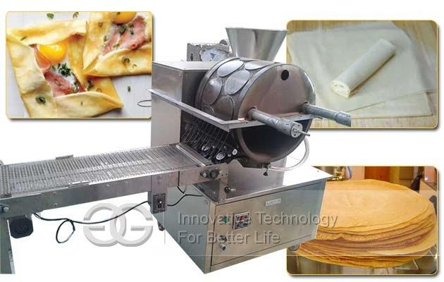 Automatic Spring Roll Sheet Lumpia Wrapper Making Machine|Injera Chappathi Manufacturing Machine