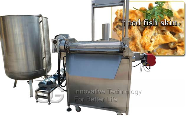 Commercial Fish Skin Continuous Fryer Machine On Sale