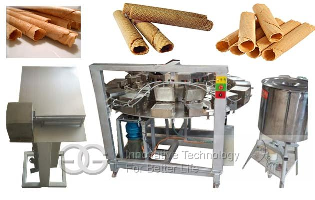 Automatic Electric Waffle Rolls Processing Line|Barquillos Baking Machine