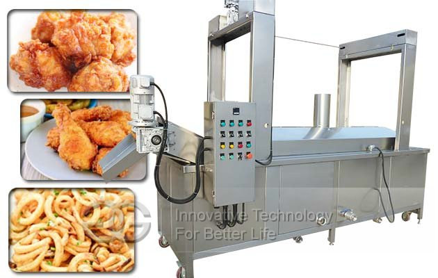 Groundnuts Continuous Fryer Machine|Industrial Peanuts Chips Chicken Fryer For Sale