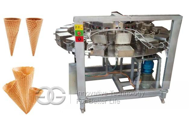 Ice Cream Cones Baking Rolling Machine|Ice Cream Cones Making Machine