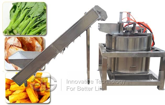 Automatic Fried Food De-watering De-oiling Machine|Fruit Vegetable Chips Oil Removing Machine
