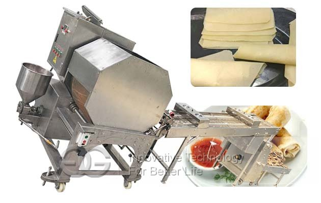 Automatic Samosa Sheet Making Machine|Commercial Spring Roll Wrappers Equipment