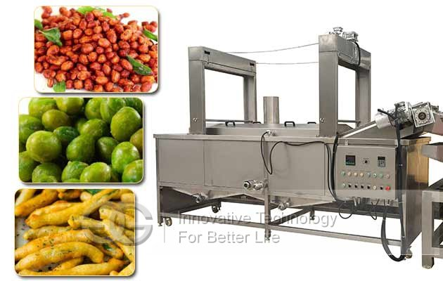 Continuous Peanuts Peas Frying Machine|Groundnut Automatic Frying Machine