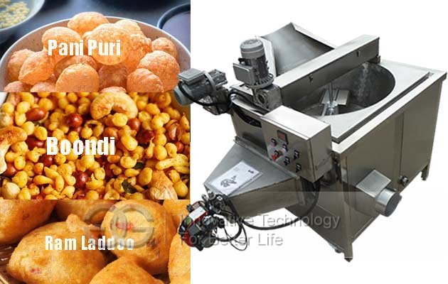 Indian Snacks Frying Machine|Boondi Kulkul Ram Ladoo Frying Machine