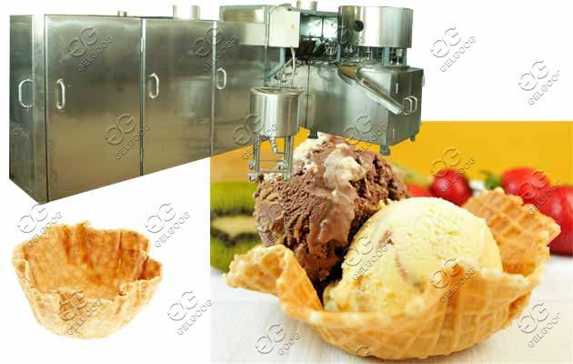 Automatic Crisp Waffle Bowl Cones Machine|Bowl Shape Cones Making Machine