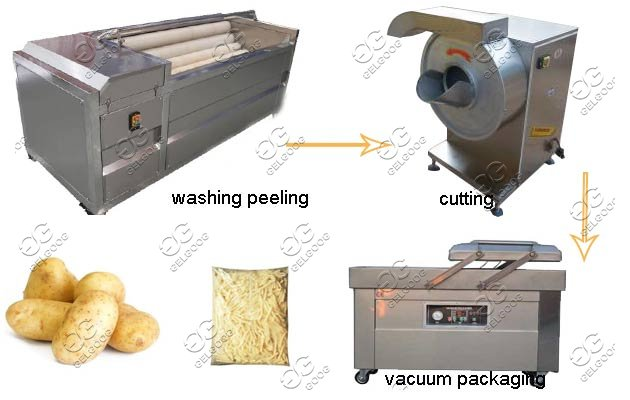 Commercial Potato Processing Machine|Potato Fries Turnkey Project