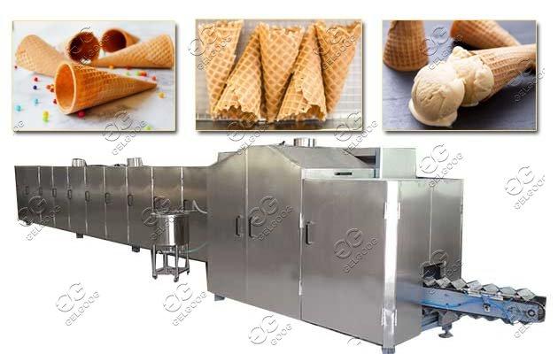 Ice Cream Waffle Cone Production Line|Sugar Cones Baking Machine