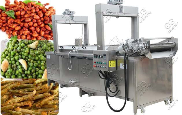 Continuous Peanuts Frying Machine|Groundnut Automatic Frying Machine
