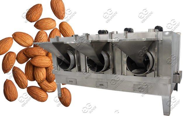 Three Barrel Drum Baking Machine|Automatic Peanut Roasting Machine