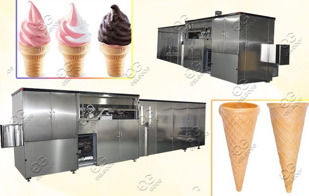 Automatic Ice Cream Wafer Cone Machine Hot Sale|Ice Cream Cones Making Line