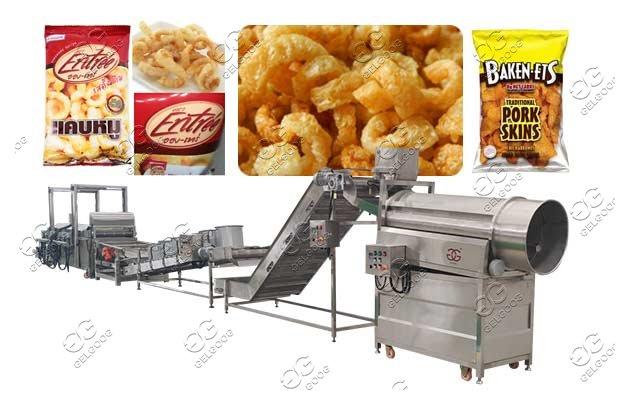 Industrial Pork Skin Processing Line|Fried Chicharrónes Machine For Sale