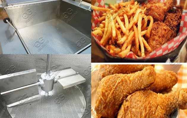 commercial gas fryer machine