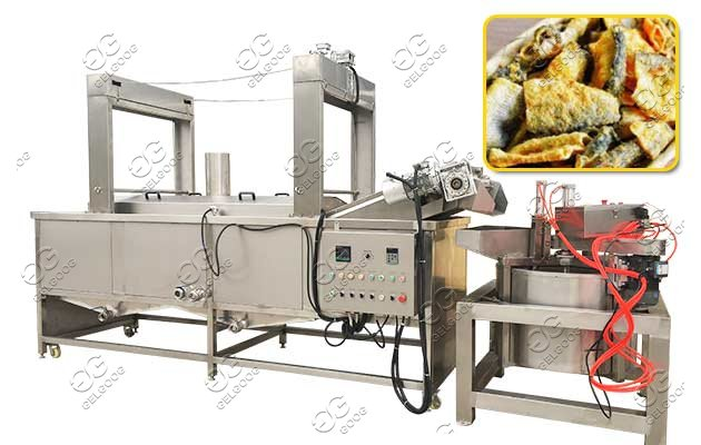 Continuous Fish Skin Fryer Machine|Fish Frying Equipment On Sale