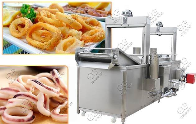 Commercial Squid Rings Frying Machine On Sale|Squid Rings Deep Fryer